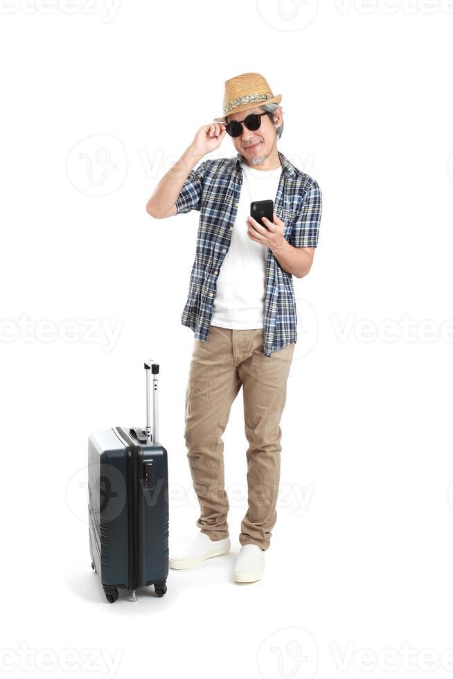 homme avec des bagages photo