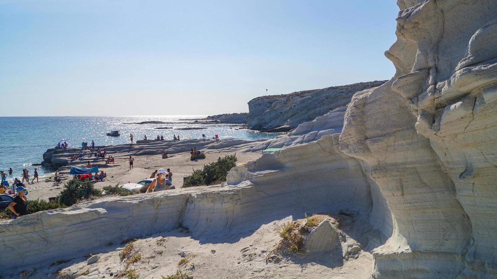 calcaires de la plage de delikli koy photo