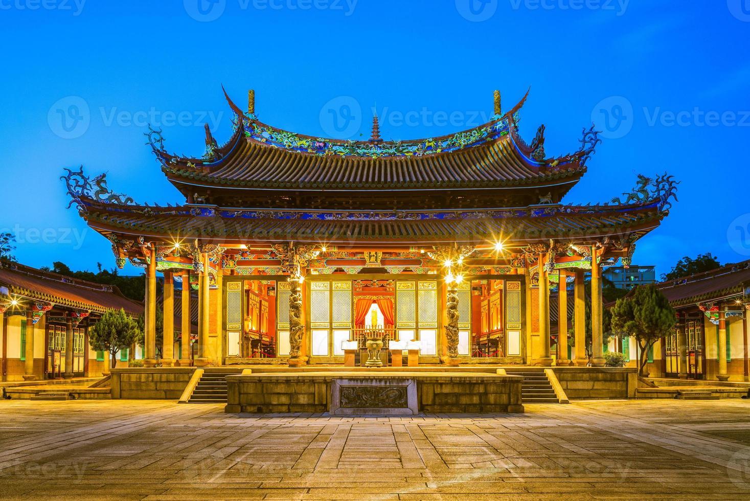 temple de taipei confucius à dalongdong, taipei, taïwan photo