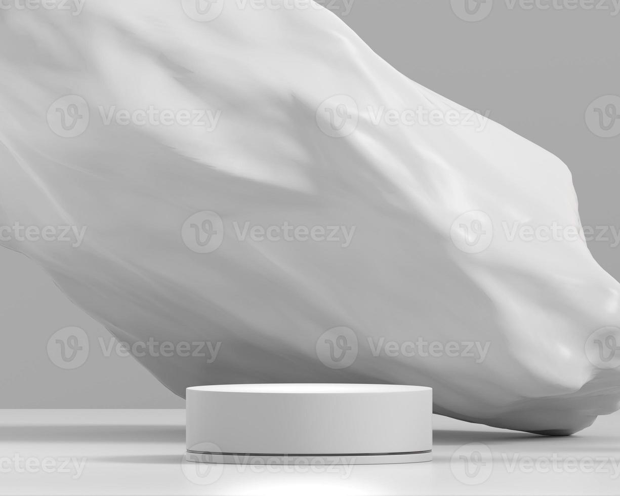 plate-forme de podium blanc abstrait pour le rendu 3d de vitrine d'affichage de produit photo