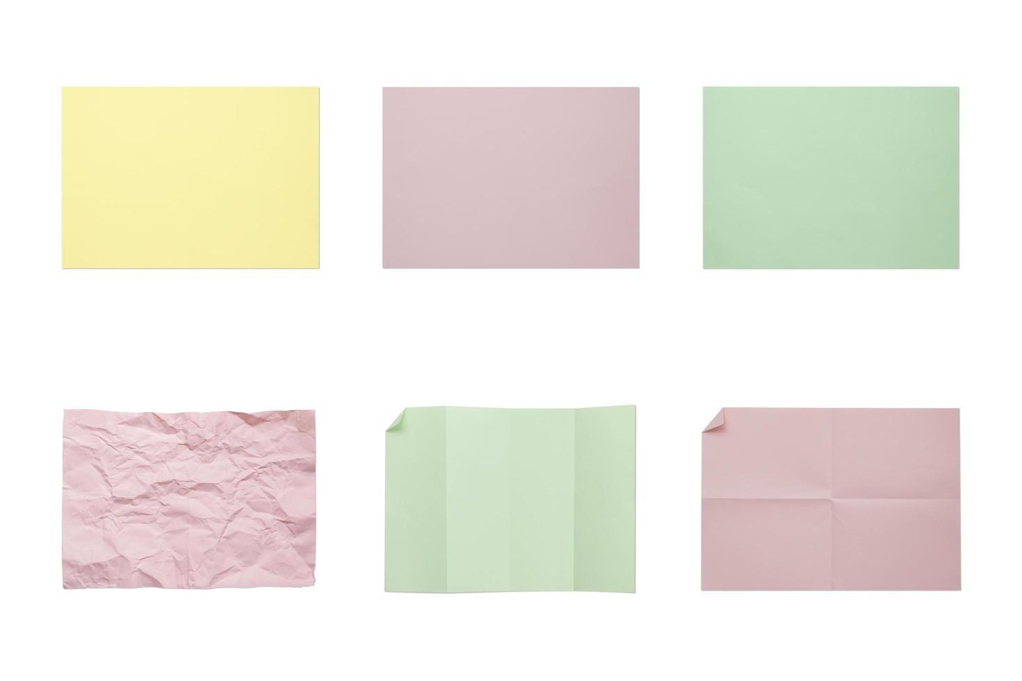 collection de groupe de papiers 4a vierges colorés photo