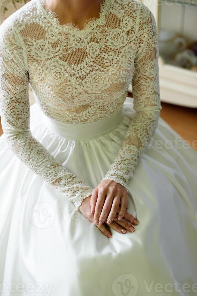 robe de mariée élégante photo