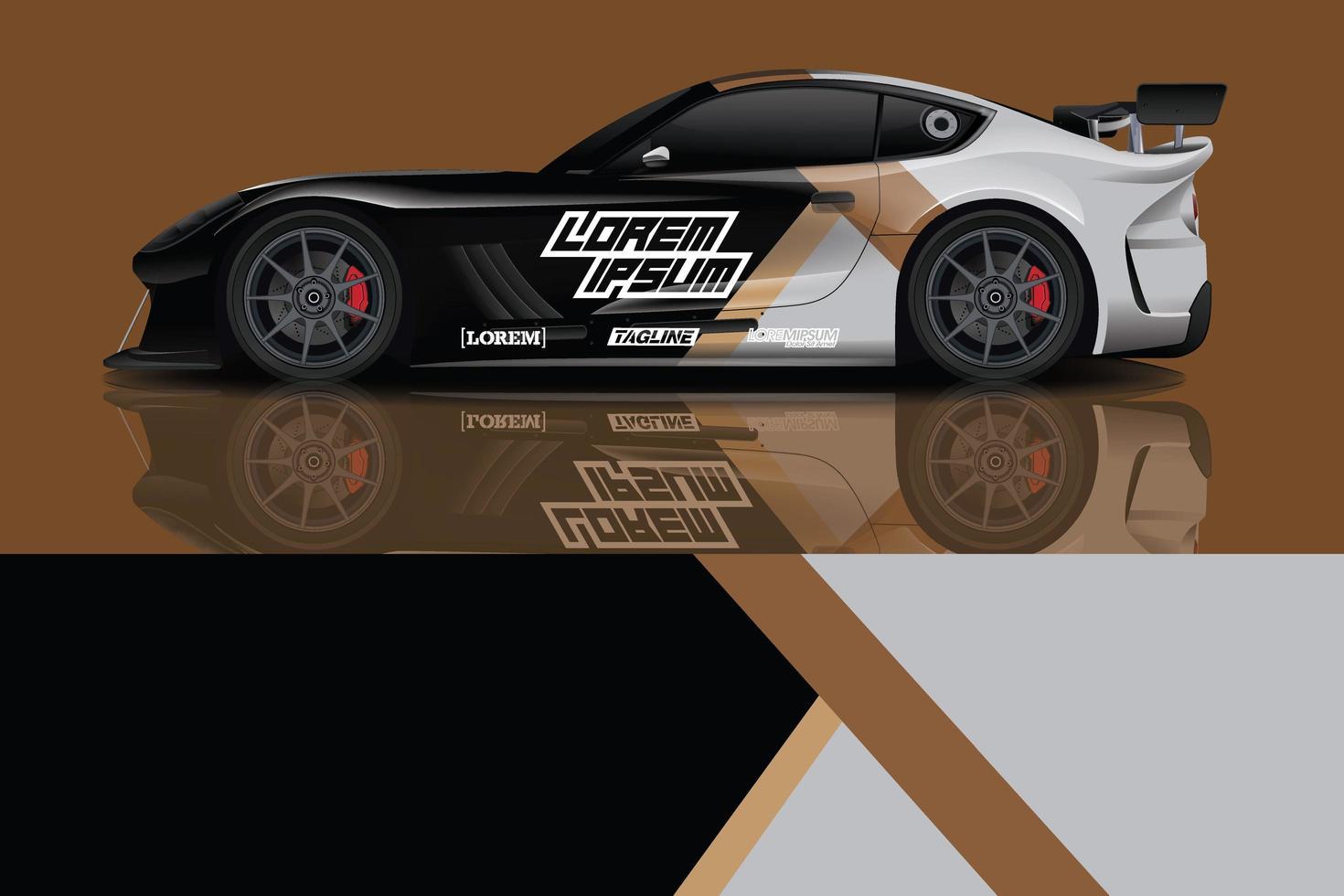 vecteur de conception d'enveloppe de voiture de sport photo