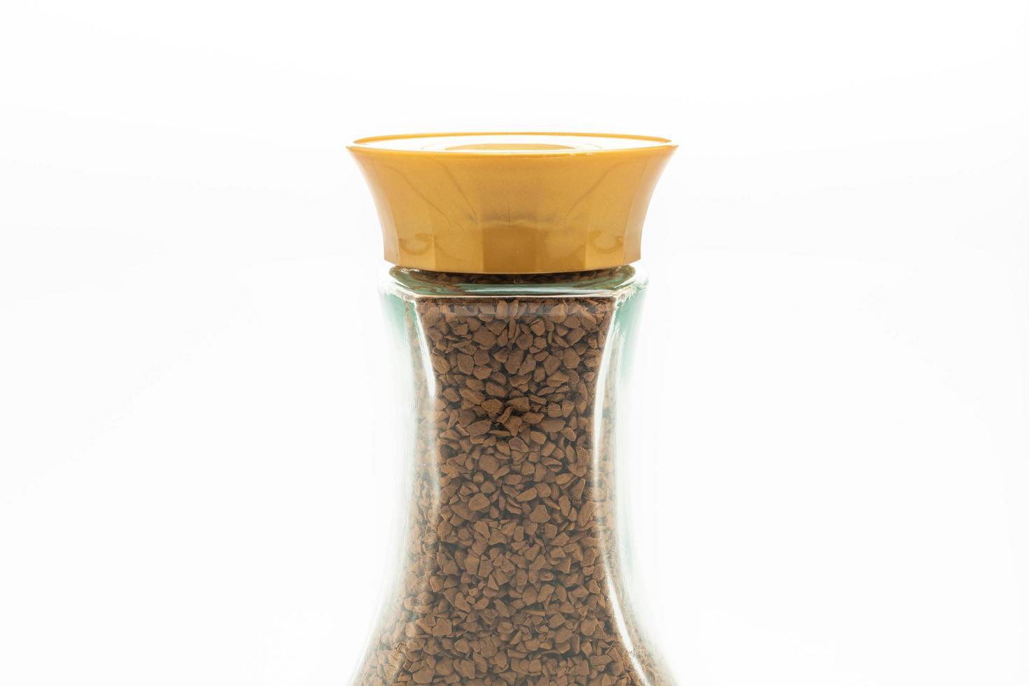 café instantané en bouteille de verre photo