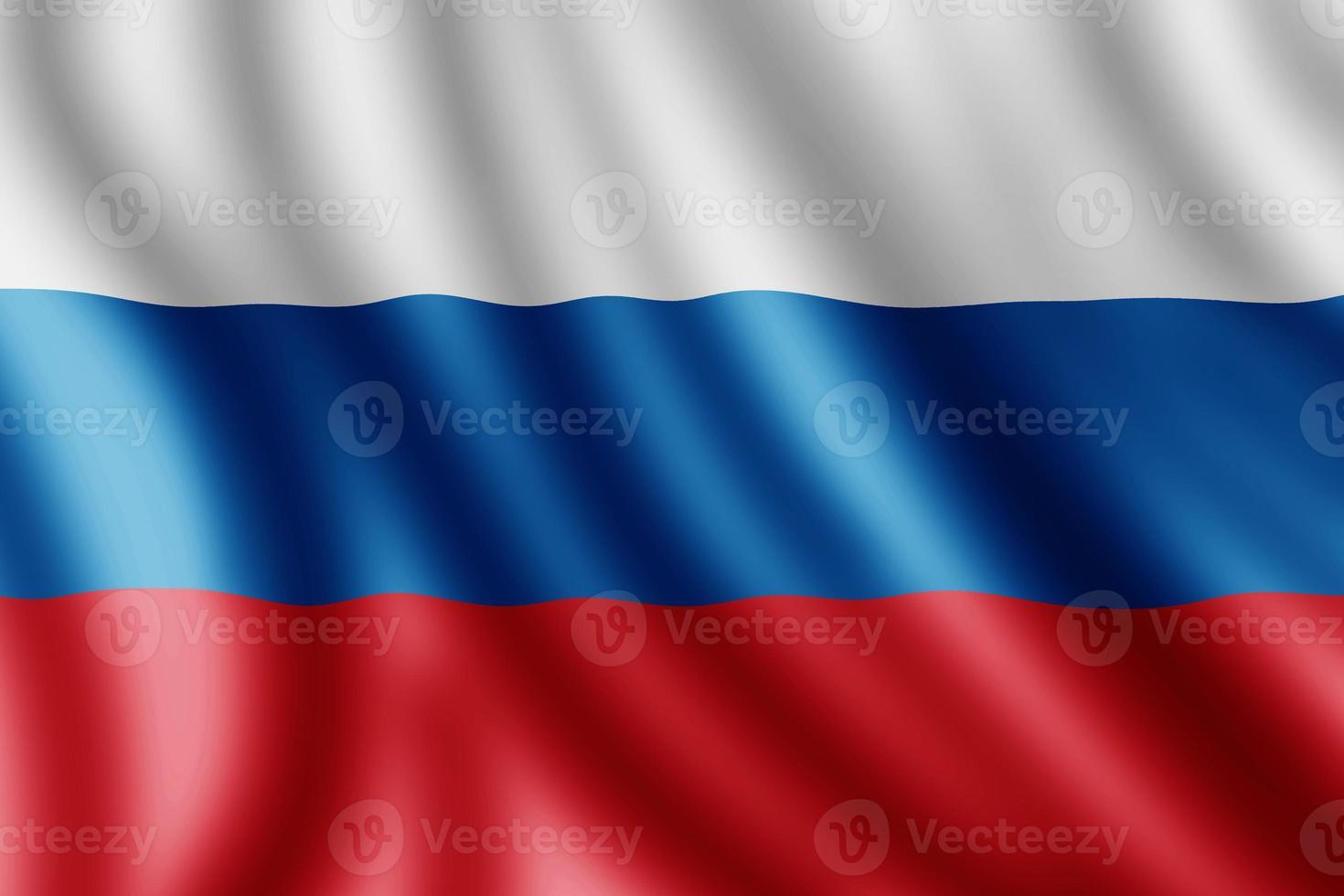 drapeau russe, illustration réaliste photo