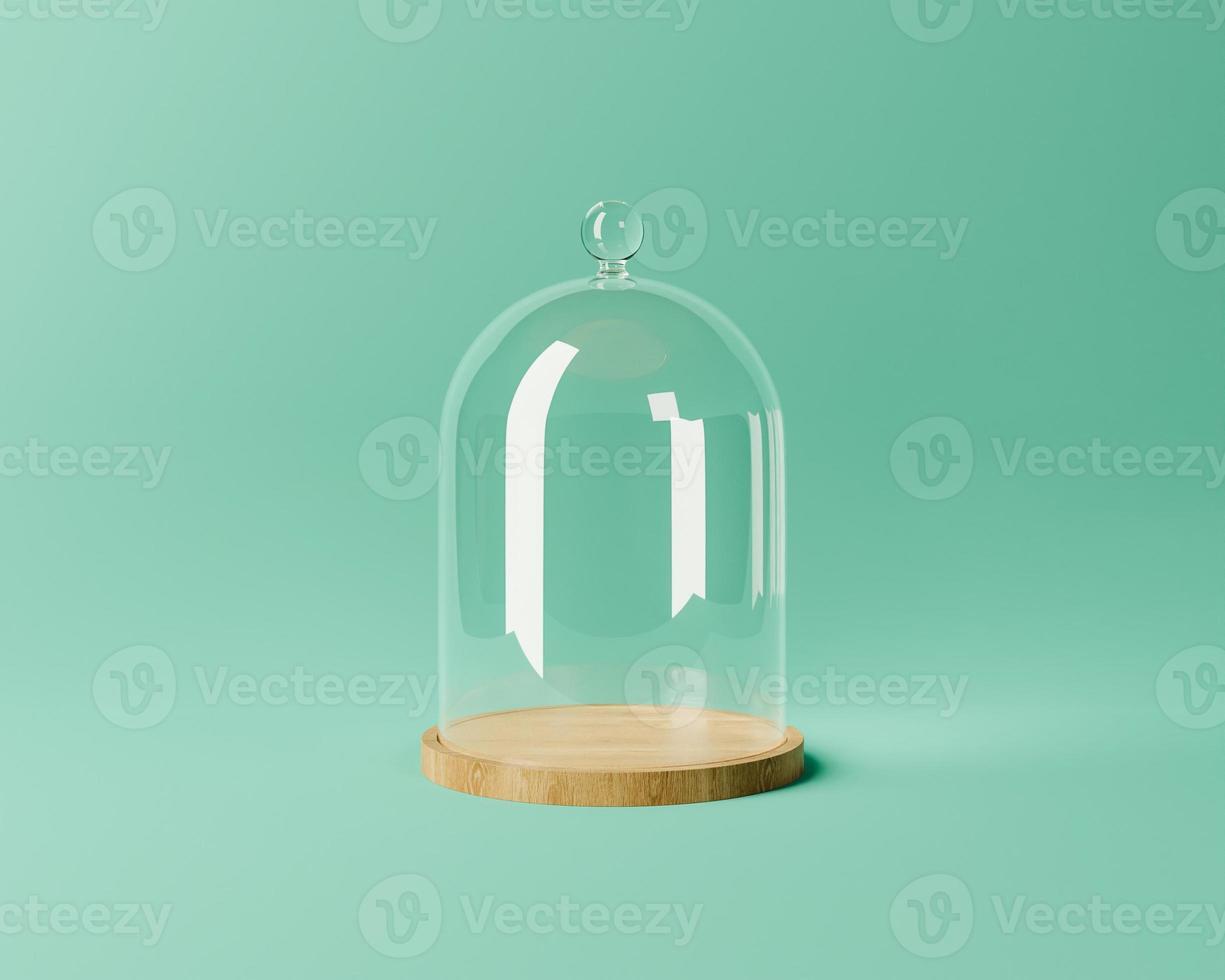 dôme en verre pour l'affichage des produits photo