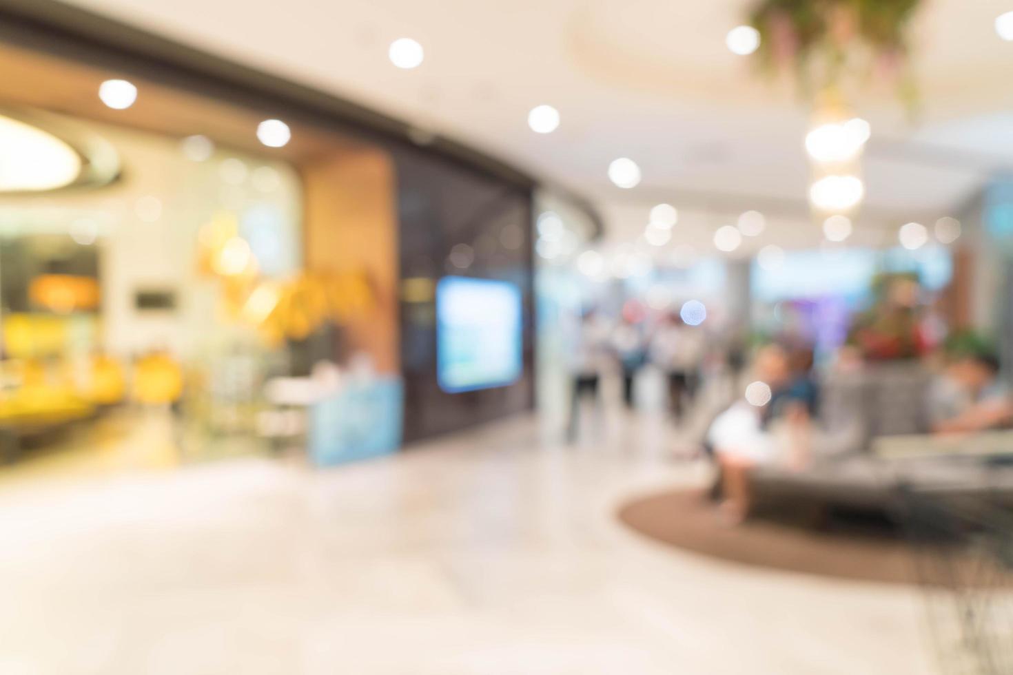 flou abstrait beau centre commercial de luxe photo