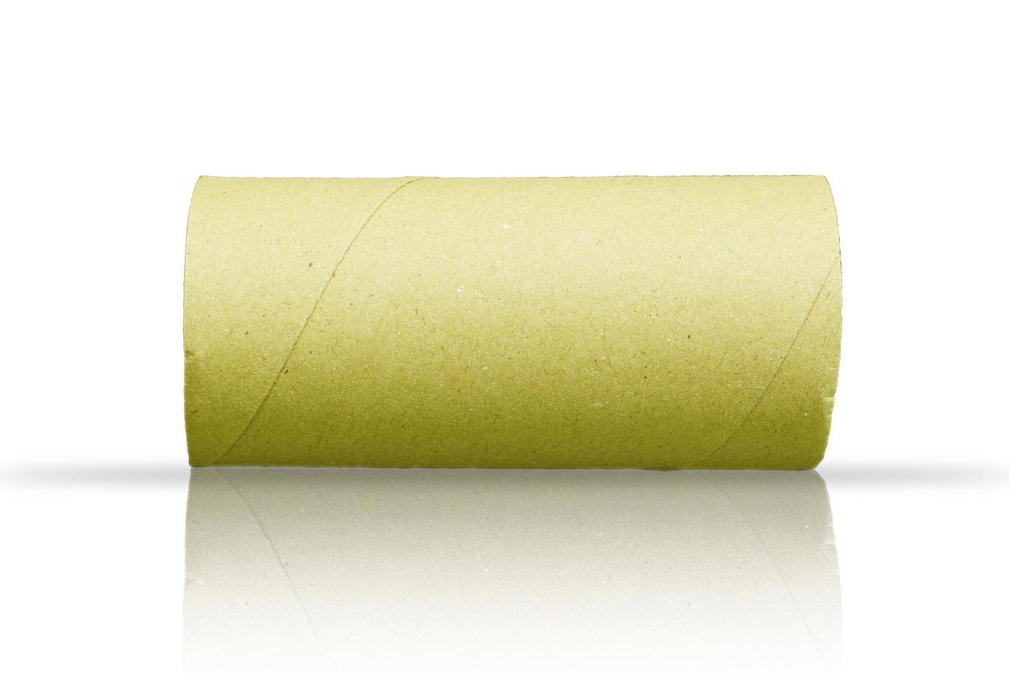 rouleau de papier sur fond blanc photo