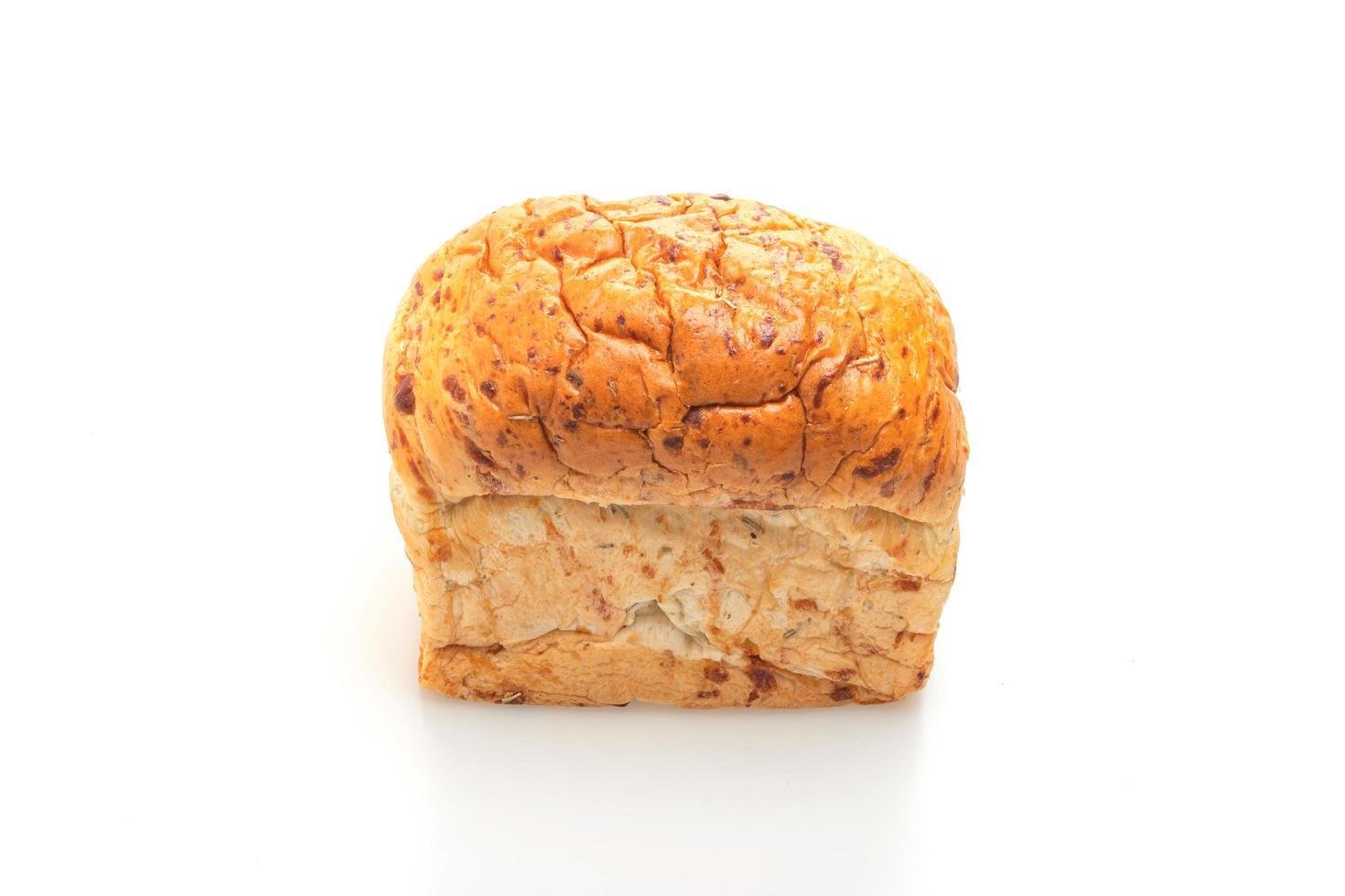 miche de pain isolé sur fond blanc photo
