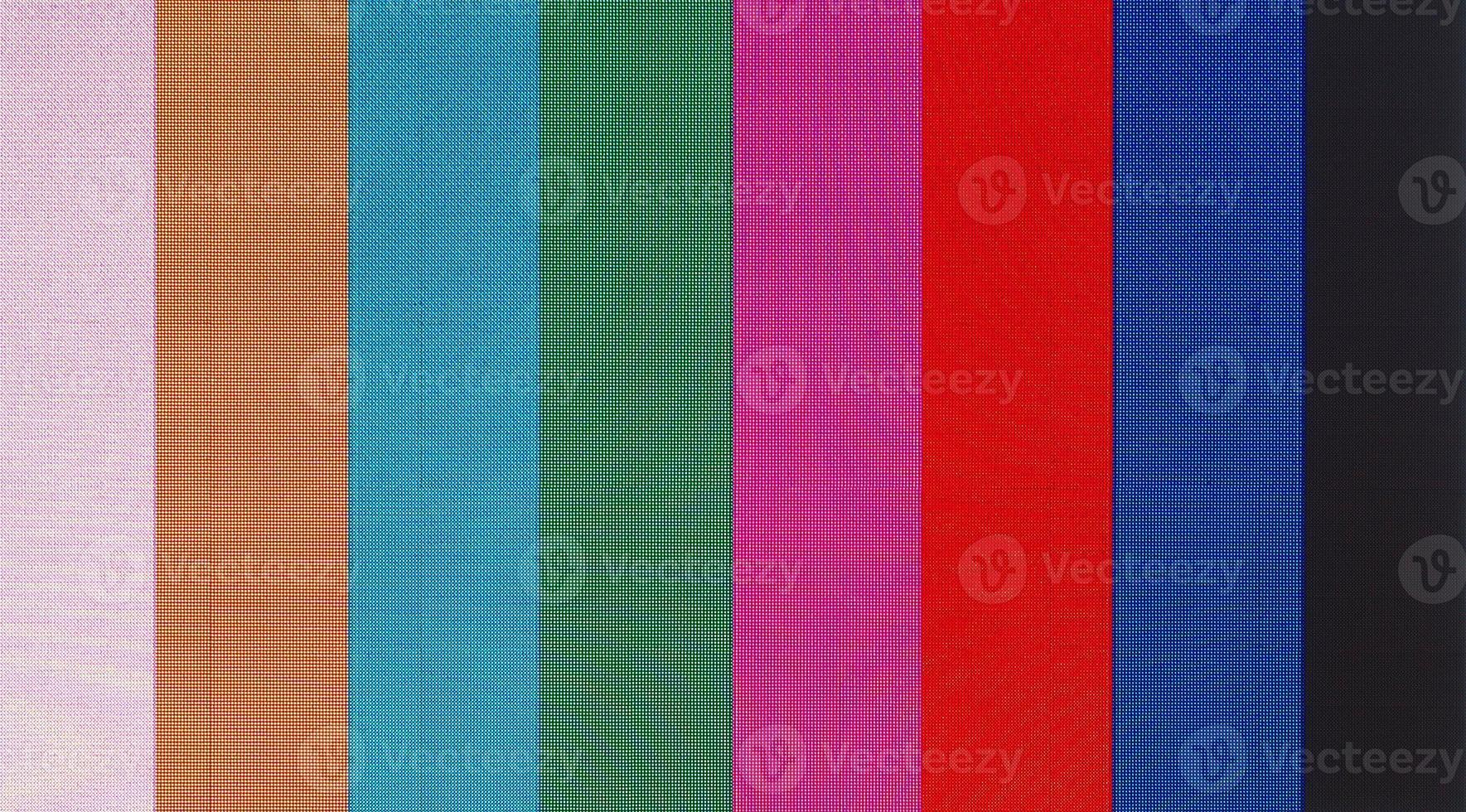 écran avec barres de couleur de test photo