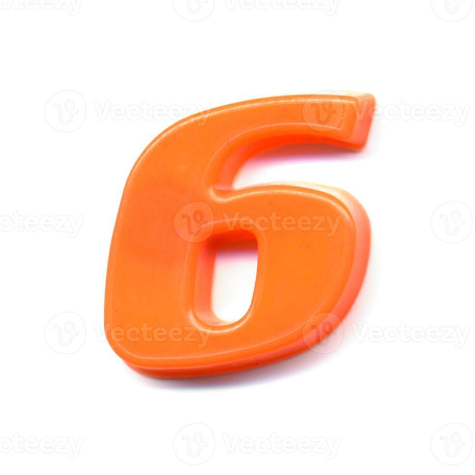 numéro magnétique en plastique 6 photo