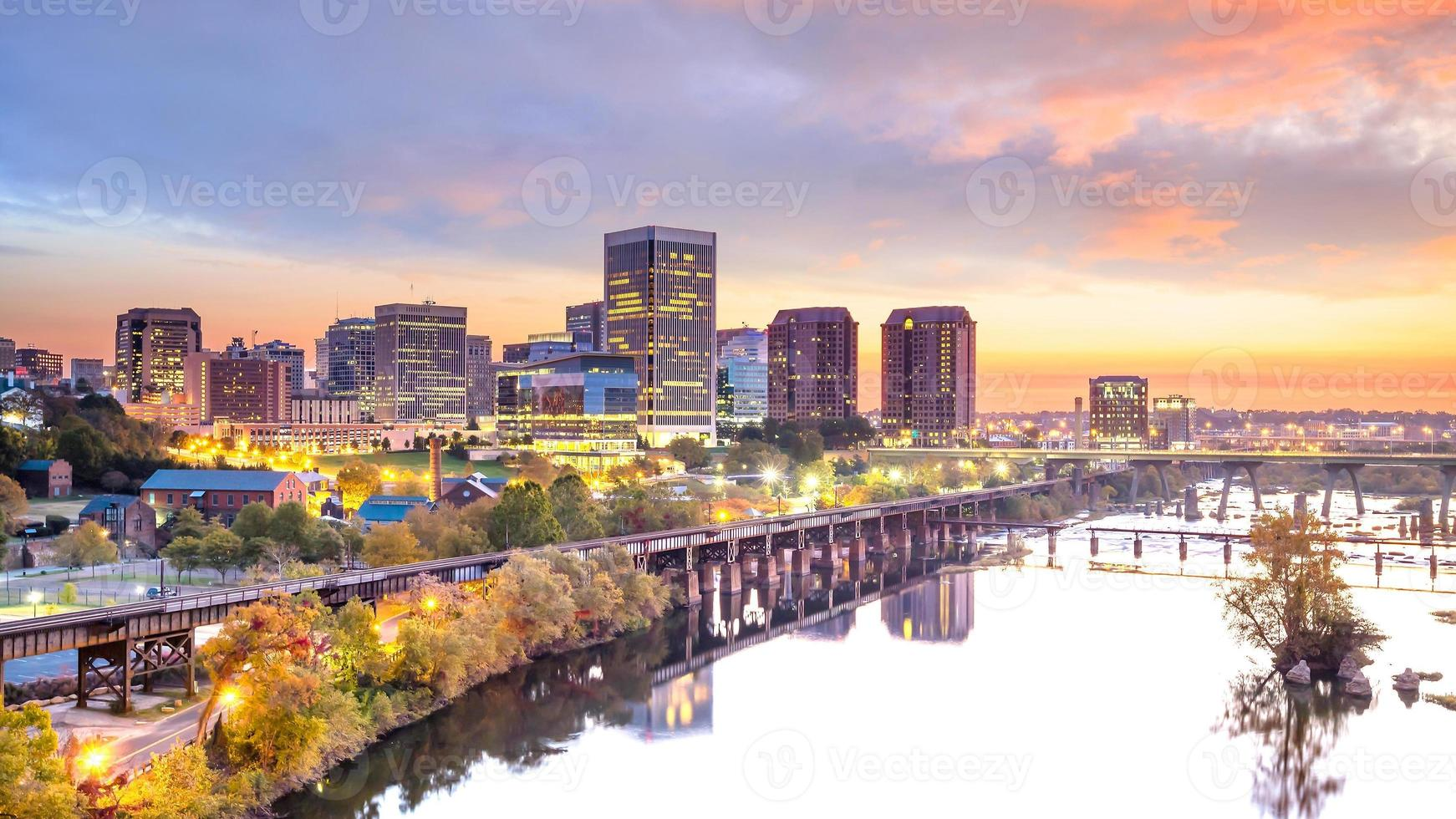 Skyline du centre-ville de Richmond, Virginie photo
