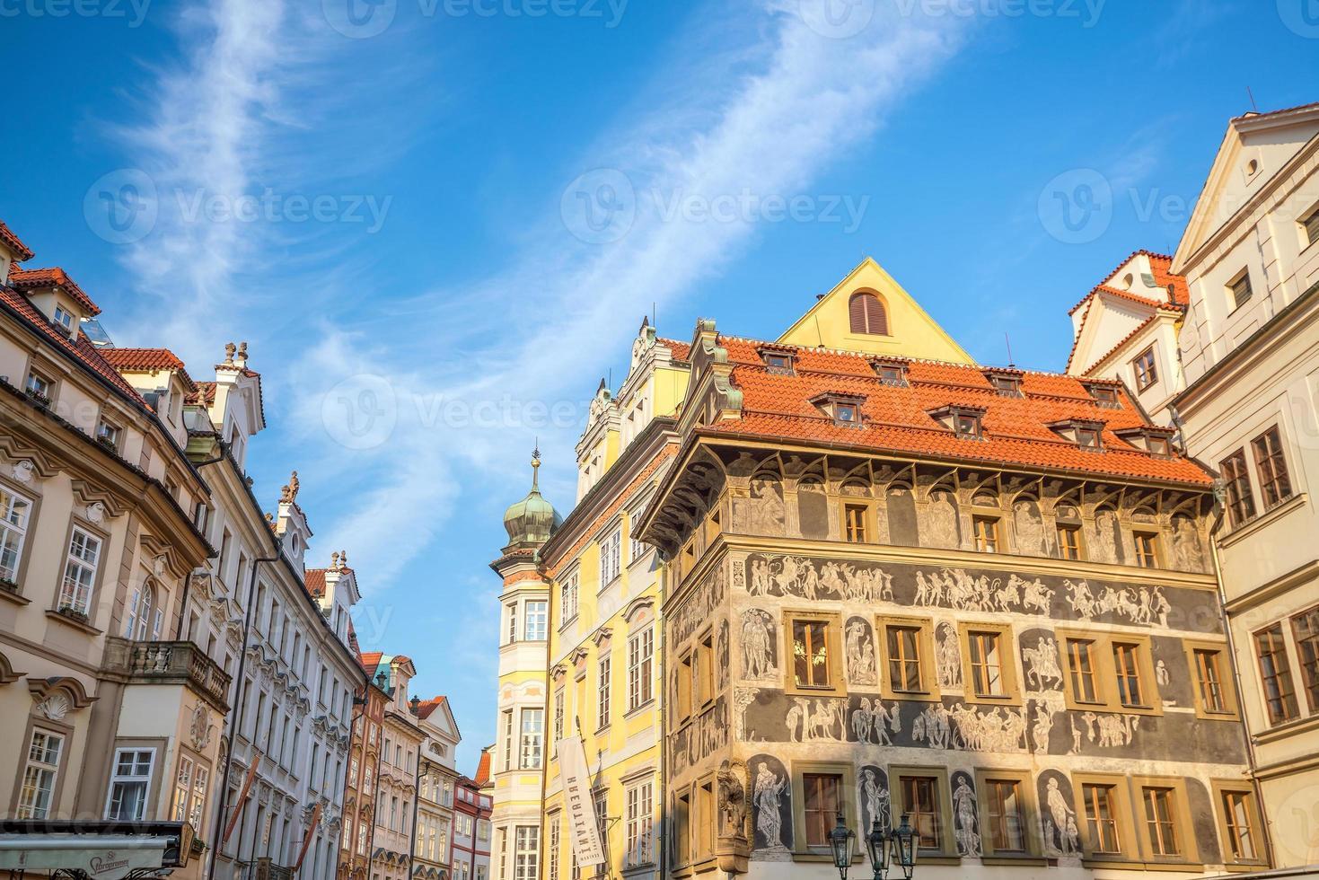 Bâtiments du patrimoine dans la vieille ville de Prague en République tchèque photo