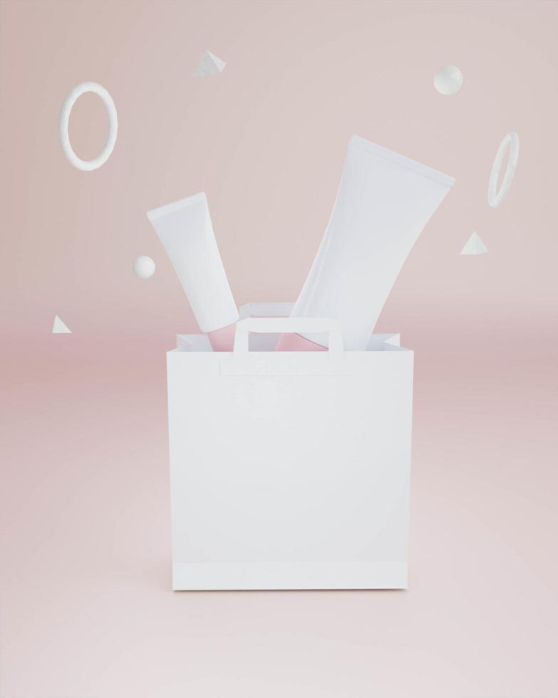 un tube souple pour appliquer des crèmes ou des cosmétiques. photo