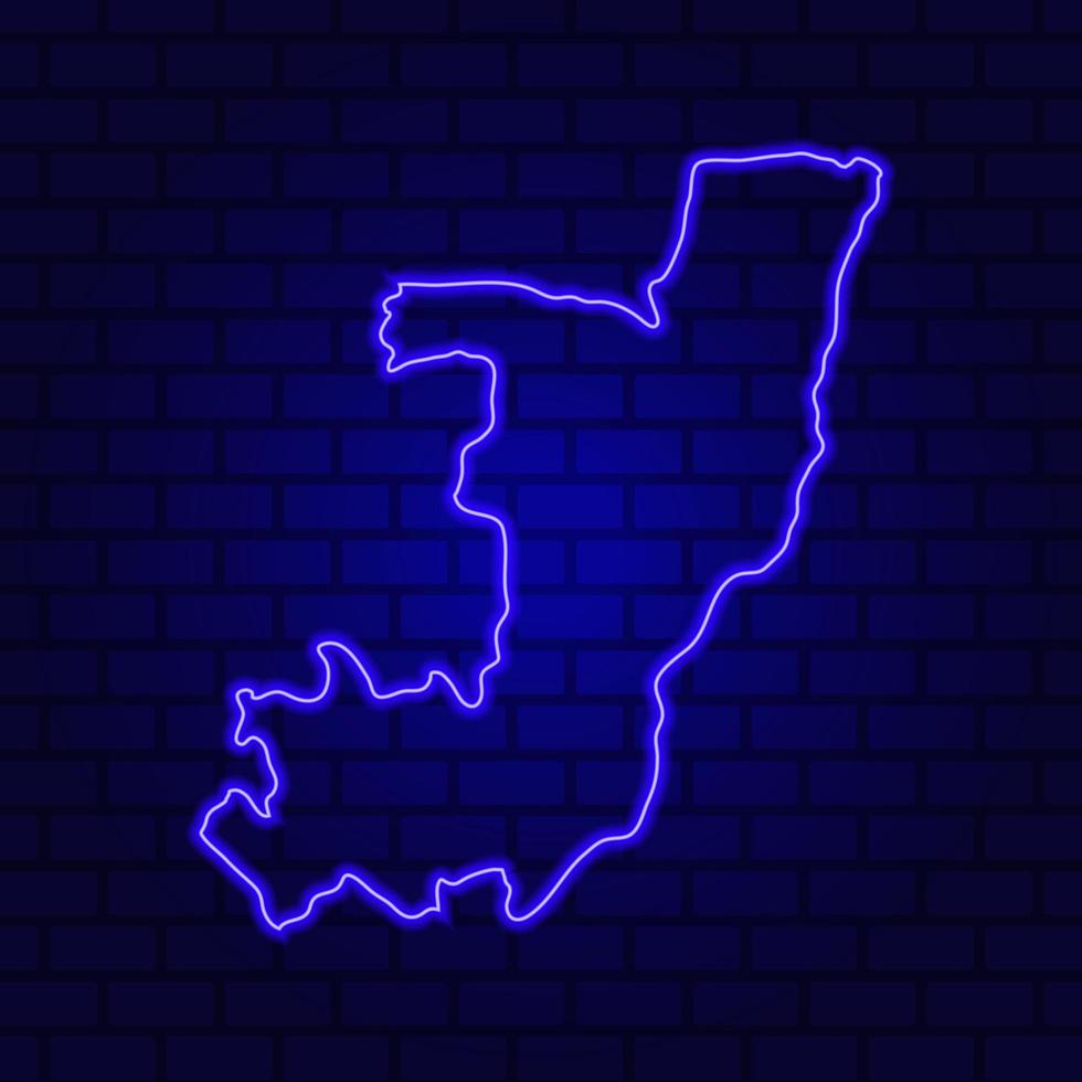 République du congo enseigne au néon lumineux sur fond de mur de brique photo