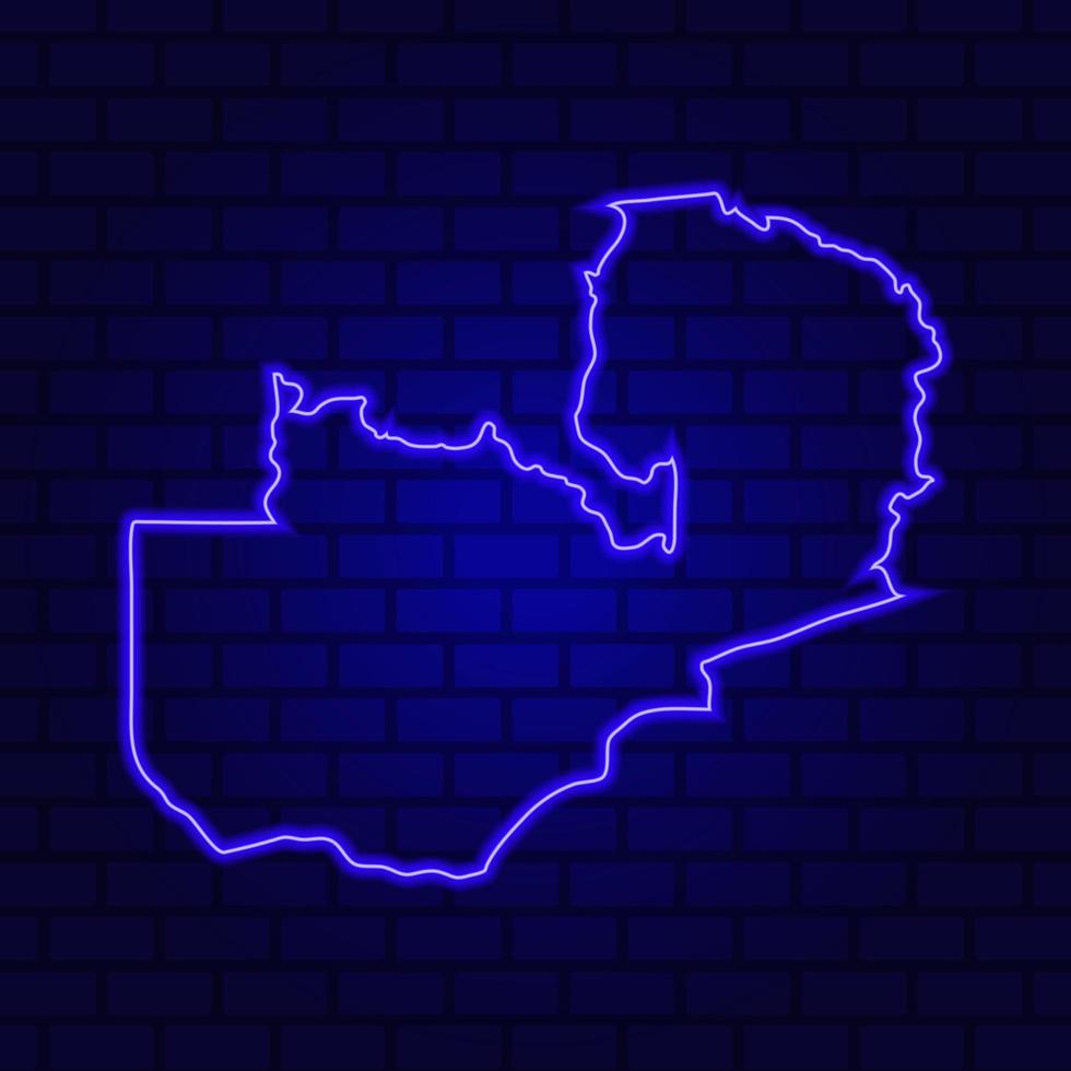 Zambie enseigne au néon lumineux sur fond de mur de brique photo