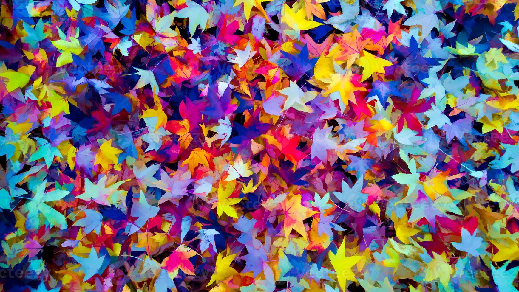 feuilles colorées d'automne fond d'automne, couleurs d'automne photo