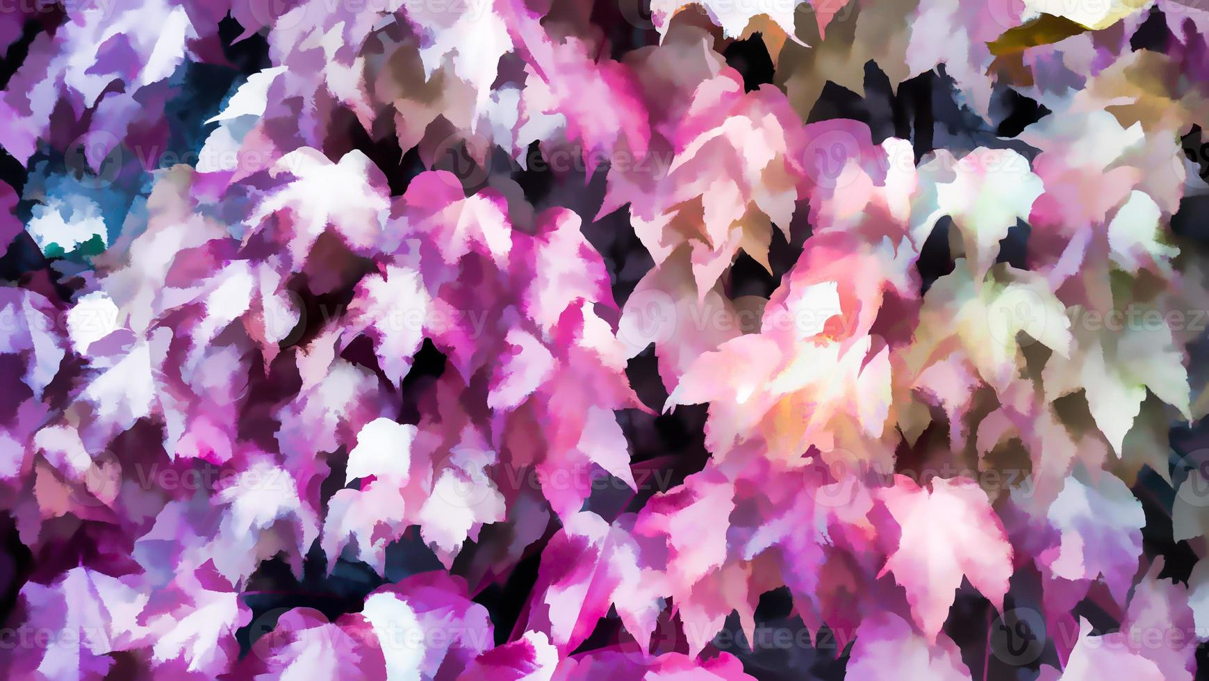 feuilles de couleur rose d'automne fond d'automne, couleurs d'automne photo
