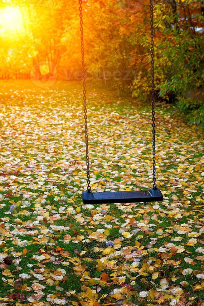 balançoire en automne photo