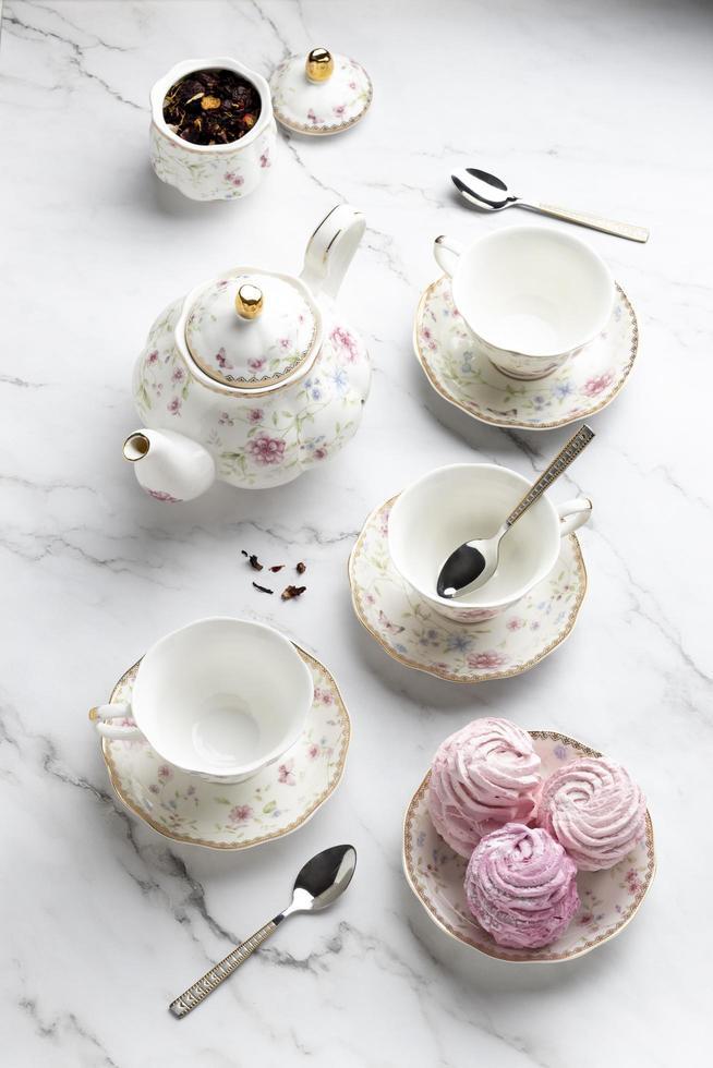 le bel assortiment de tea party photo