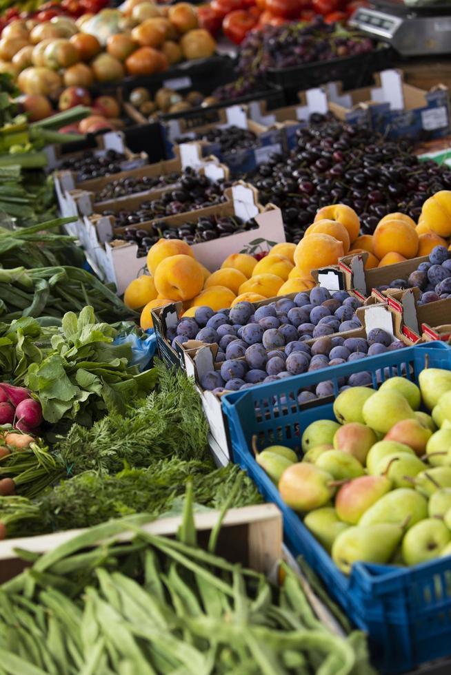 gros plan de délicieux légumes mûrs photo