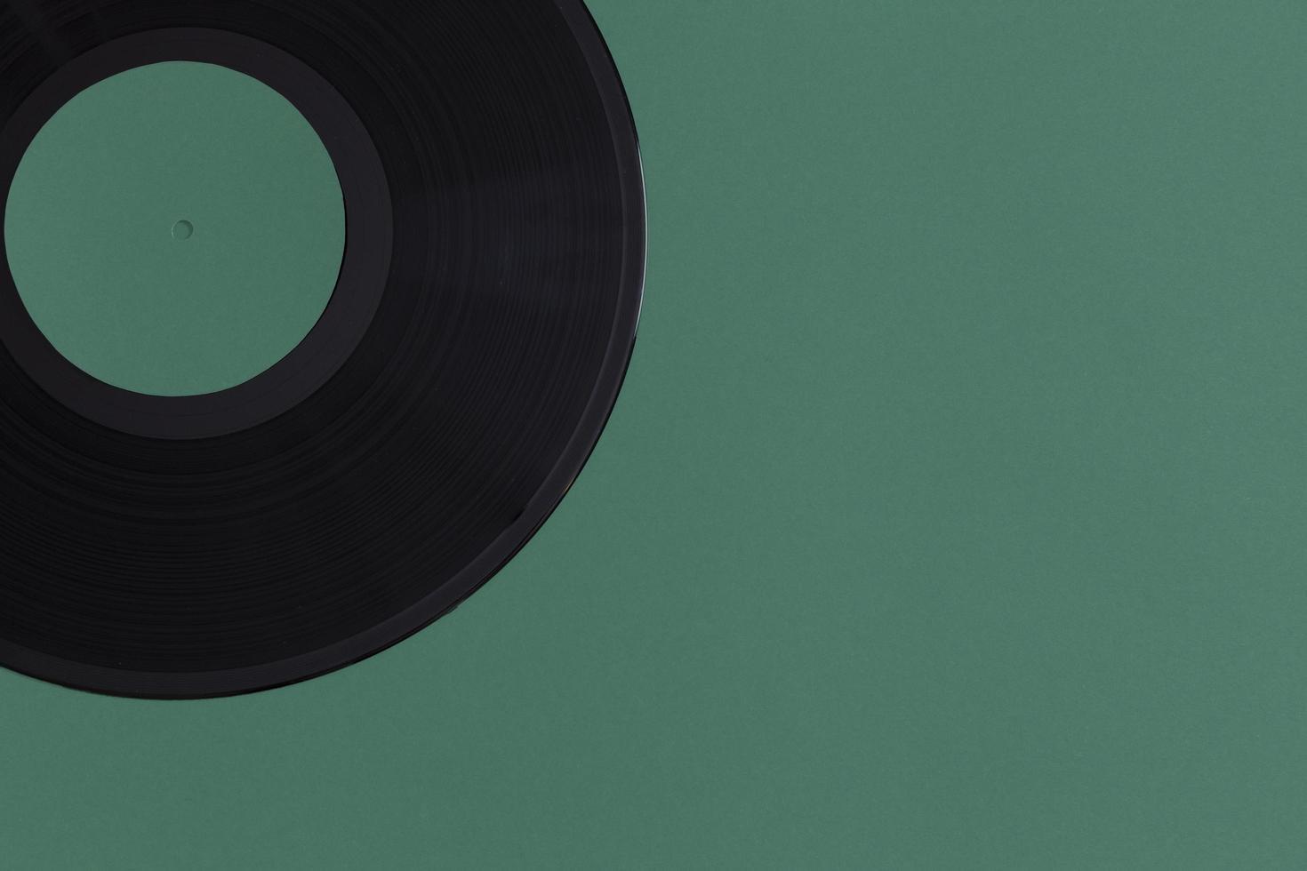 composition de disque vinyle à plat photo