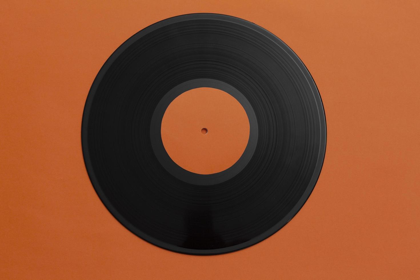 arrangement de disque vinyle vue de dessus photo