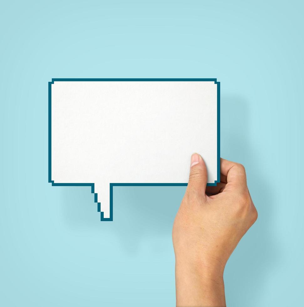 bulle de dialogue vide photo
