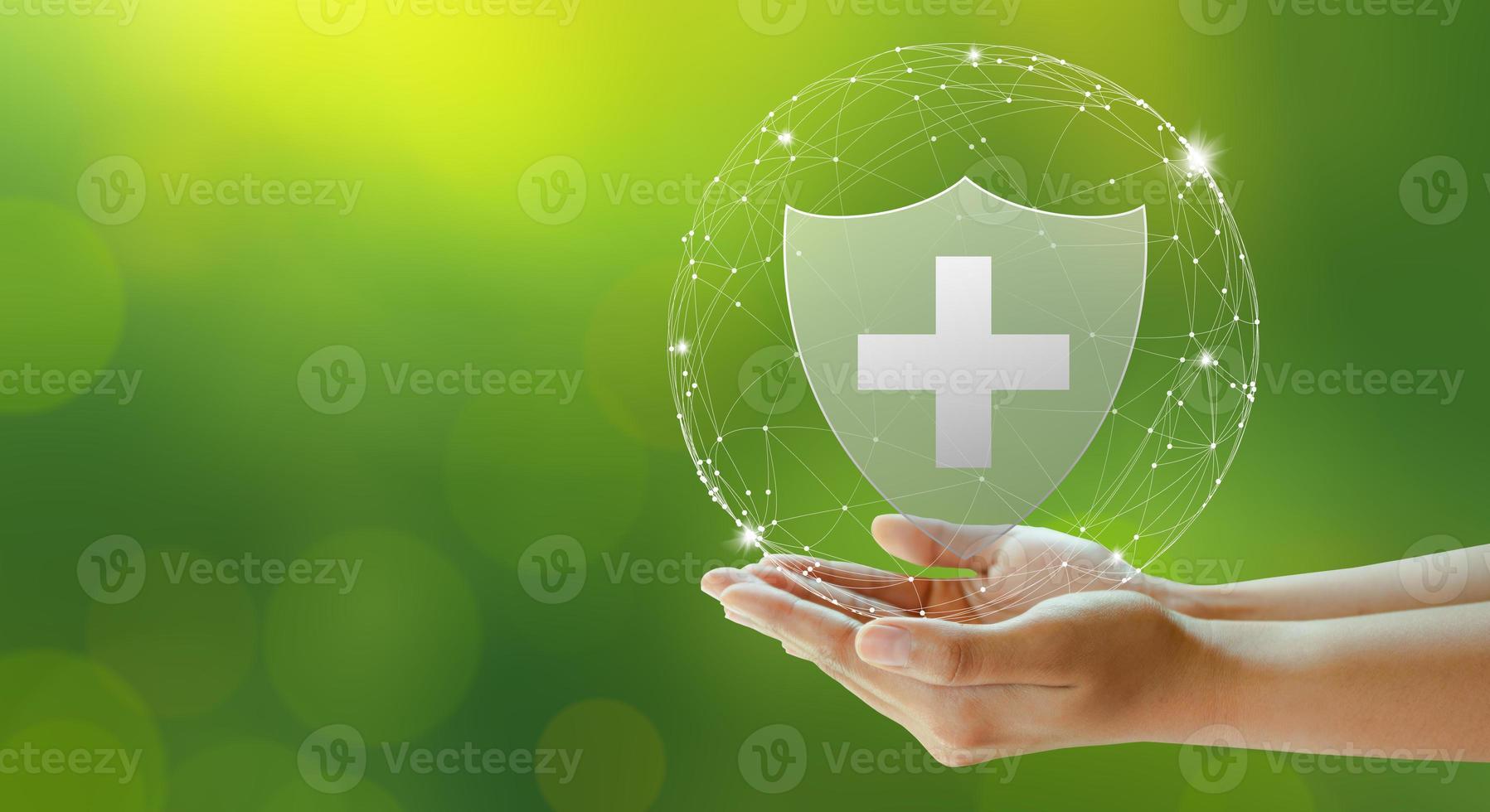 l'assurance-vie familiale, l'assurance-soins médicaux et l'entreprise en bonne santé. photo