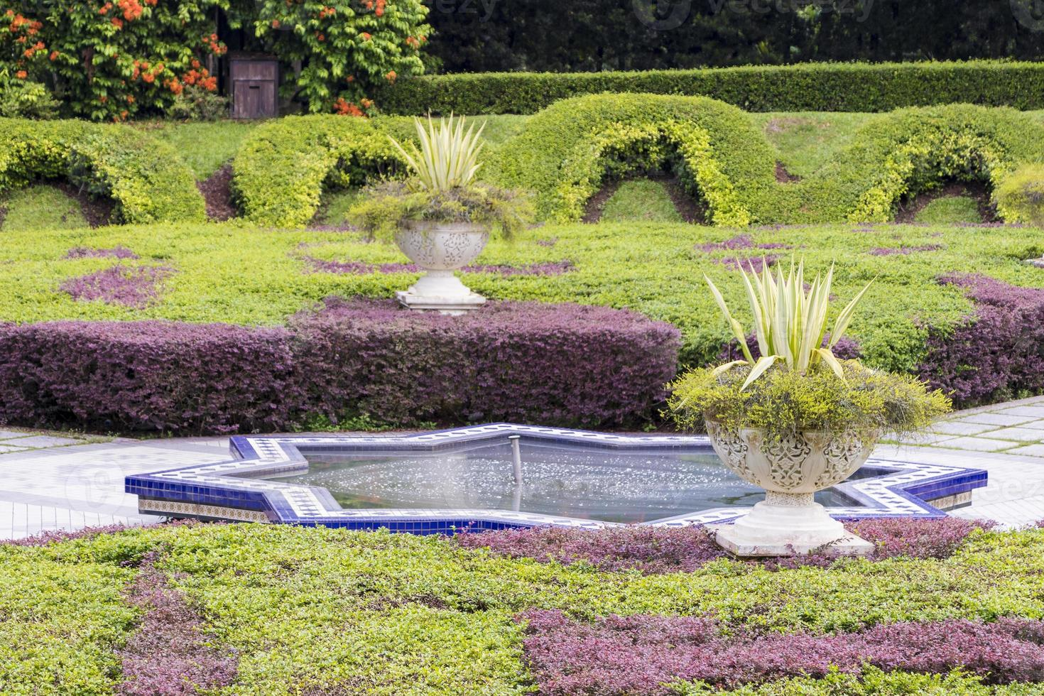 beaux jardins botaniques de perdana engloutis kuala lumpur en malaisie. photo