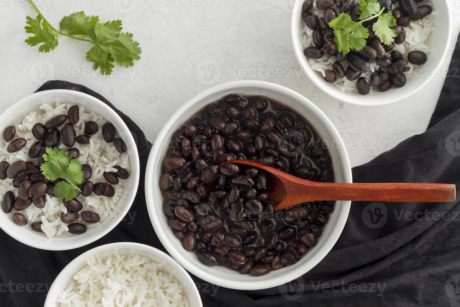 haricots rouges avec du riz photo
