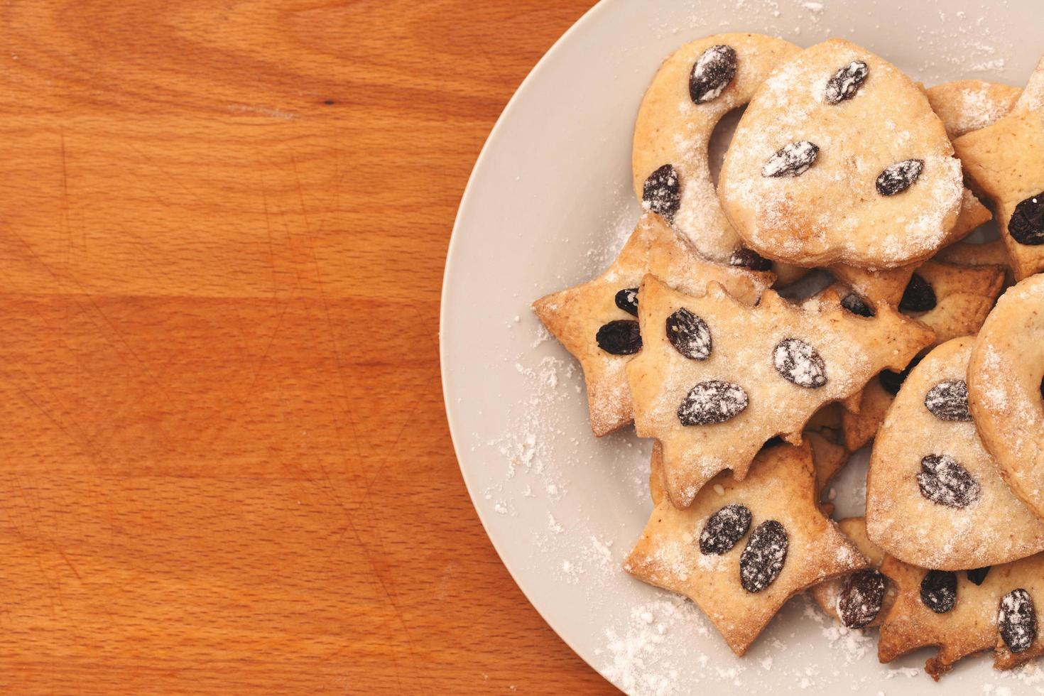 biscuits maison aux raisins secs photo