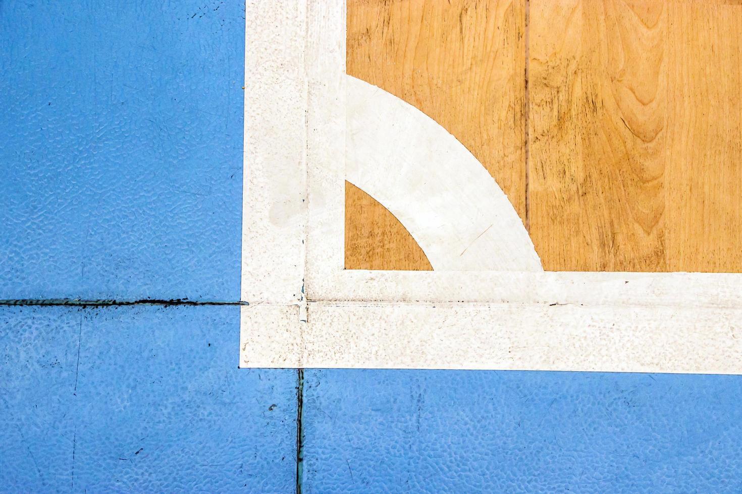 stade de sport en salle futbal court avec marque, ligne blanche dans le stade. photo