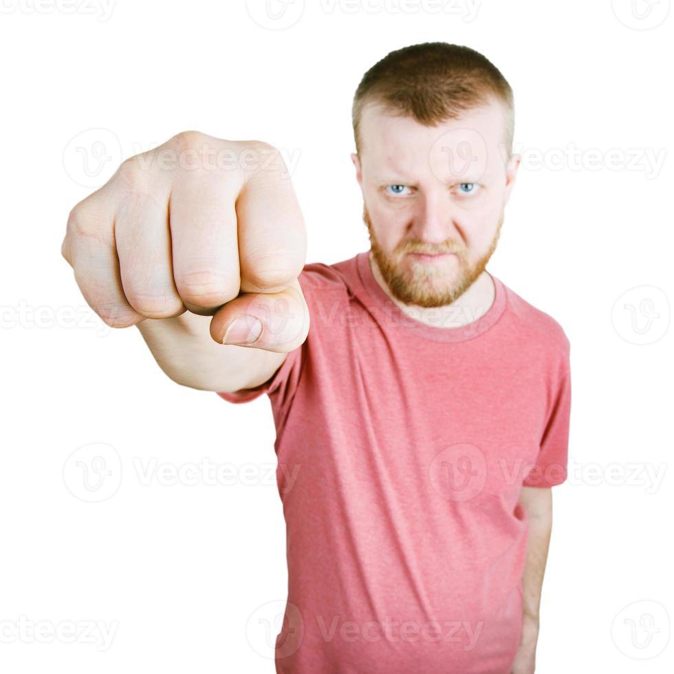 l'homme a tendu le poing en avant photo
