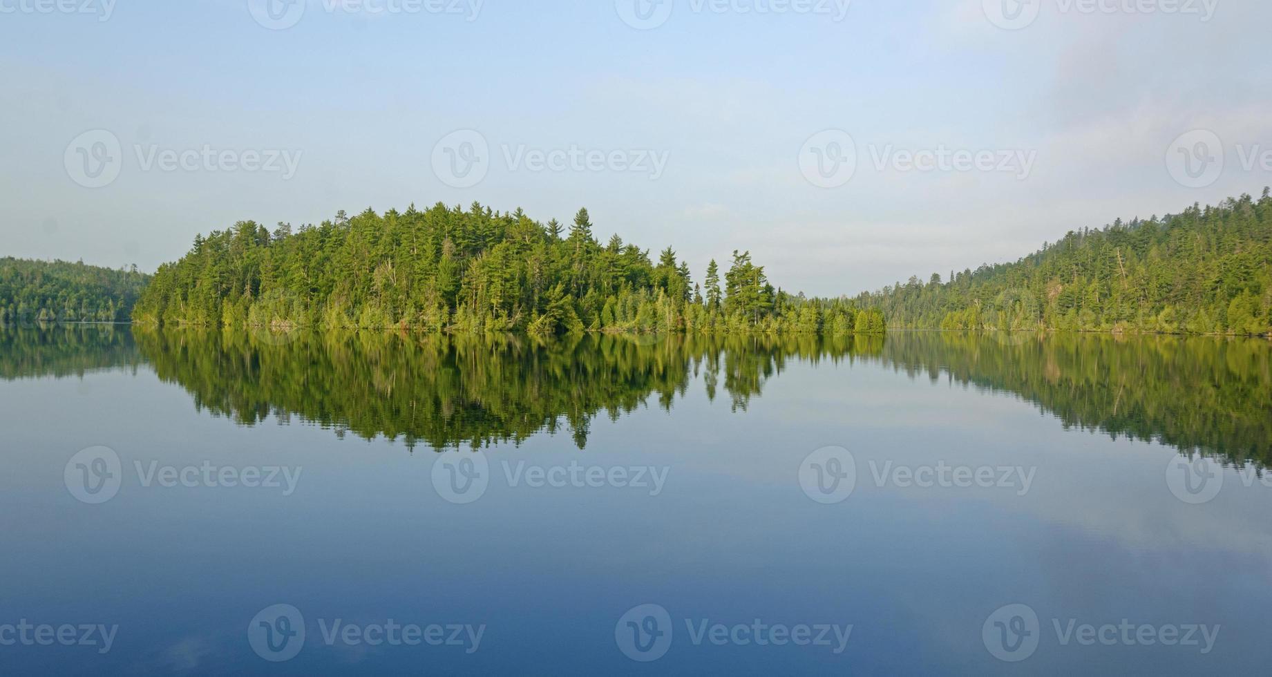 reflets du matin dans les bois du nord photo