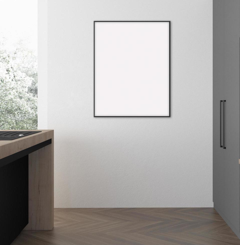 mur de pièce de maquette de cadre photo