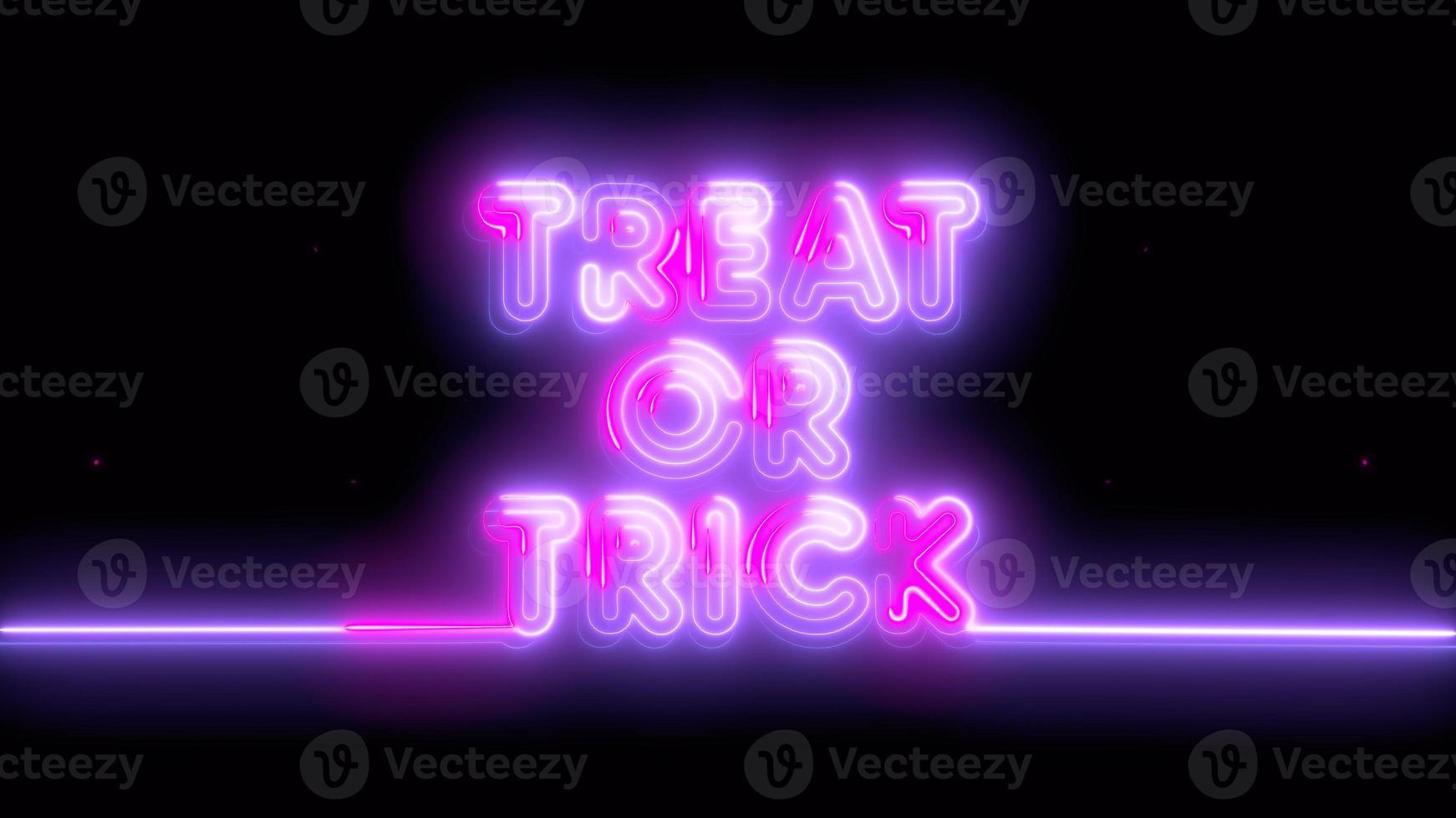 violet néon, truc ou friandise d'halloween rose, emoji, rendu 3d, photo