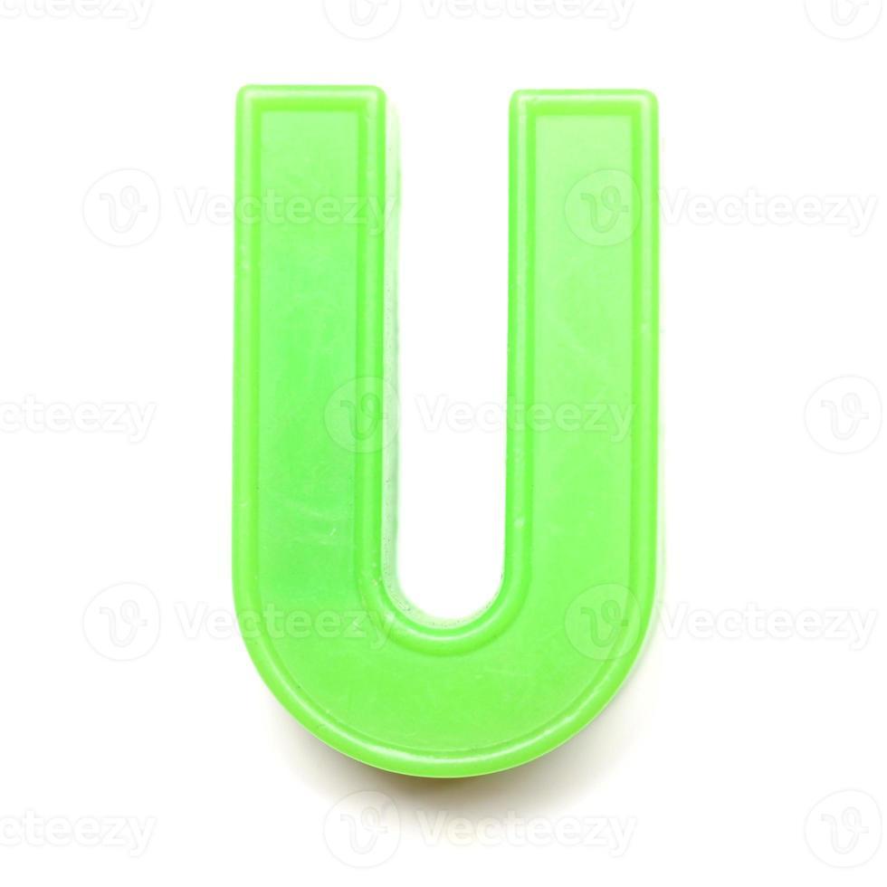 lettre majuscule magnétique u photo