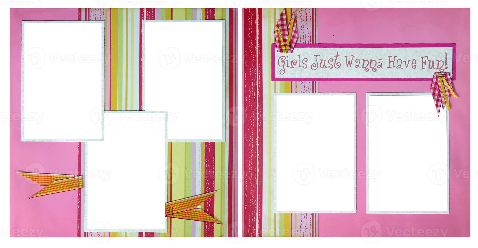 pages de scrapbooking en papier fait à la main pour insérer vos images dans photo