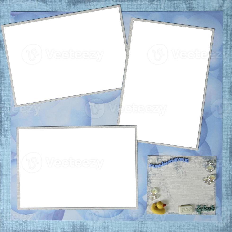 mise en page de papier scrapbook à la main pour insérer vos images photo