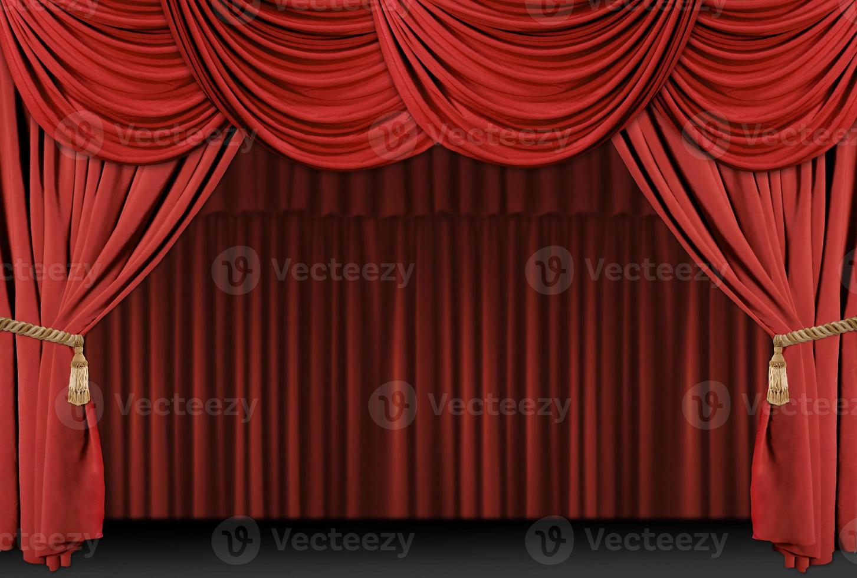 fond de drapé de théâtre de scène photo