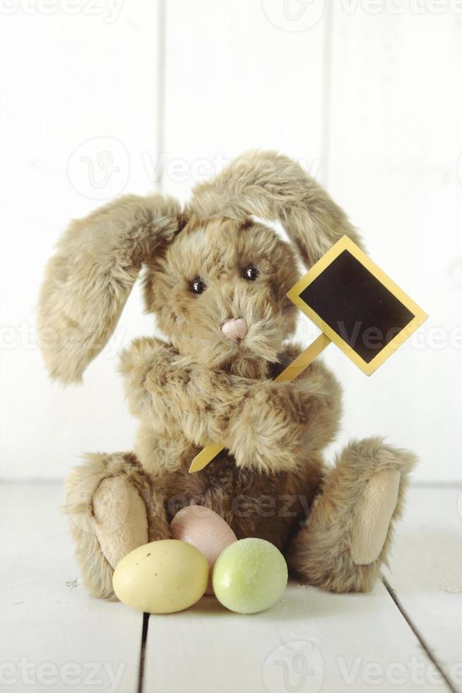 image d'occasion de vacances sur le thème du lapin de pâques photo