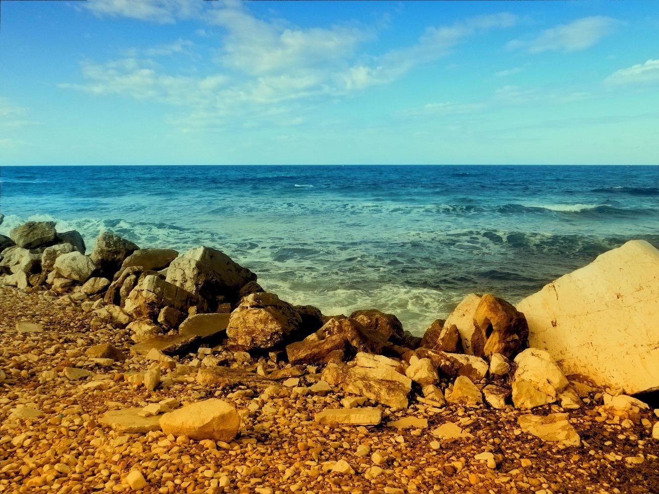 texture de la mer en plein air photo