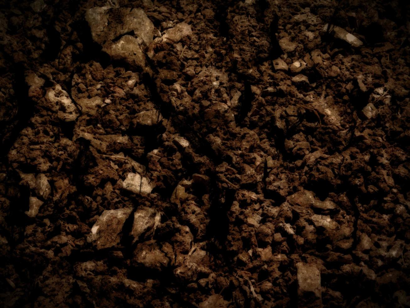 texture de la terre sombre photo