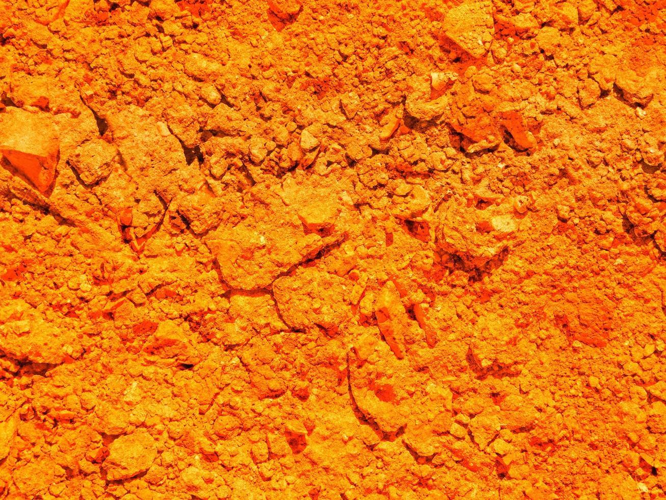 texture de la terre orange photo