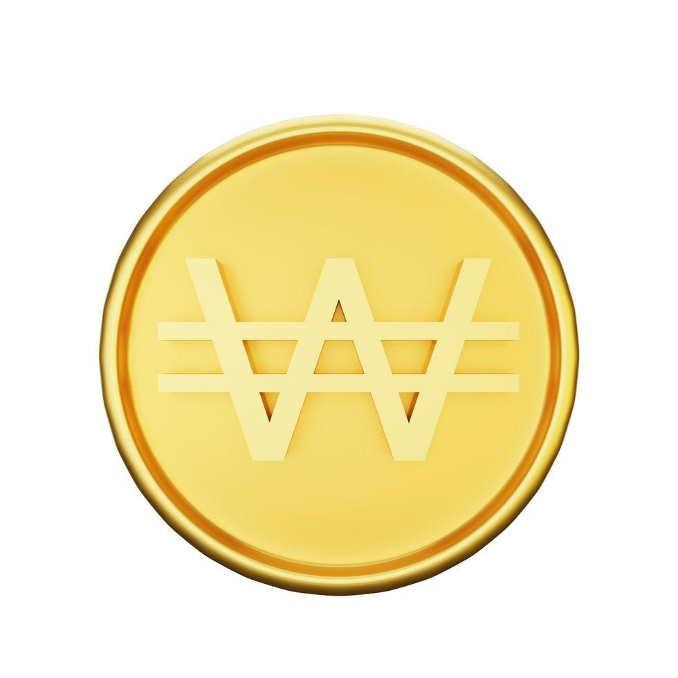 illustration de la monnaie gagnée photo