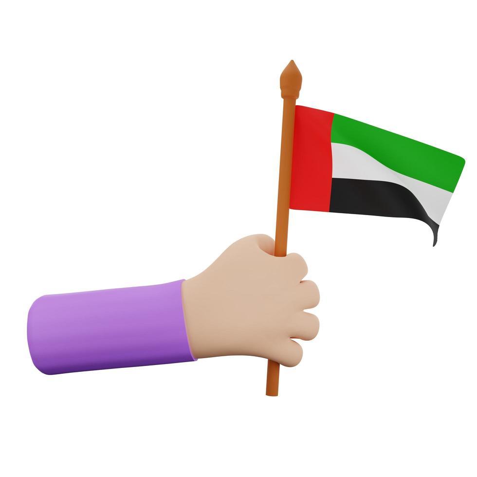 concept de la fête nationale des émirats arabes unis photo