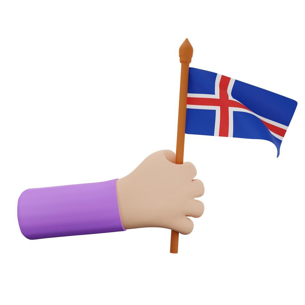 concept de la fête nationale de l'islande photo