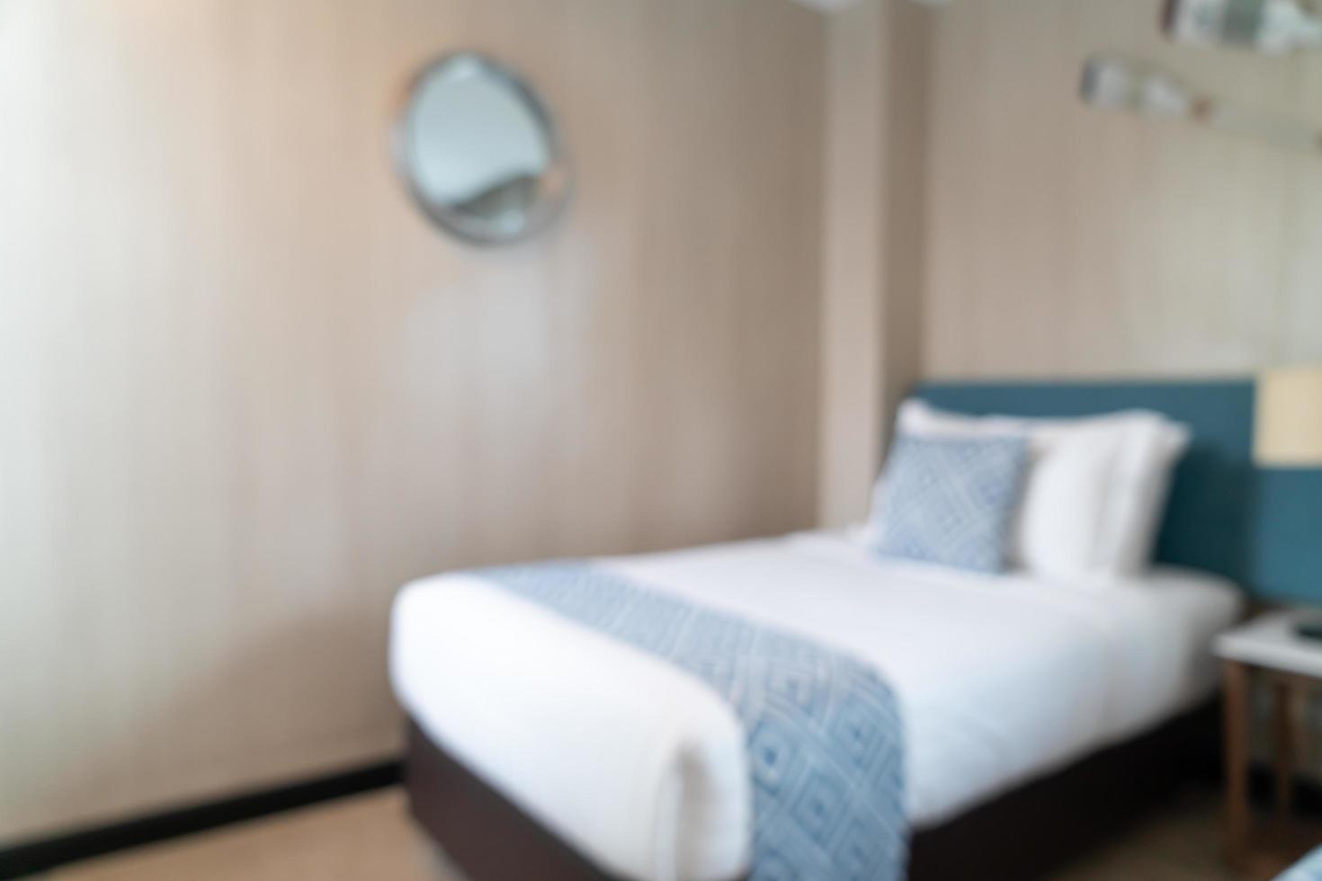 abstrait flou belle chambre d'hôtel de luxe photo