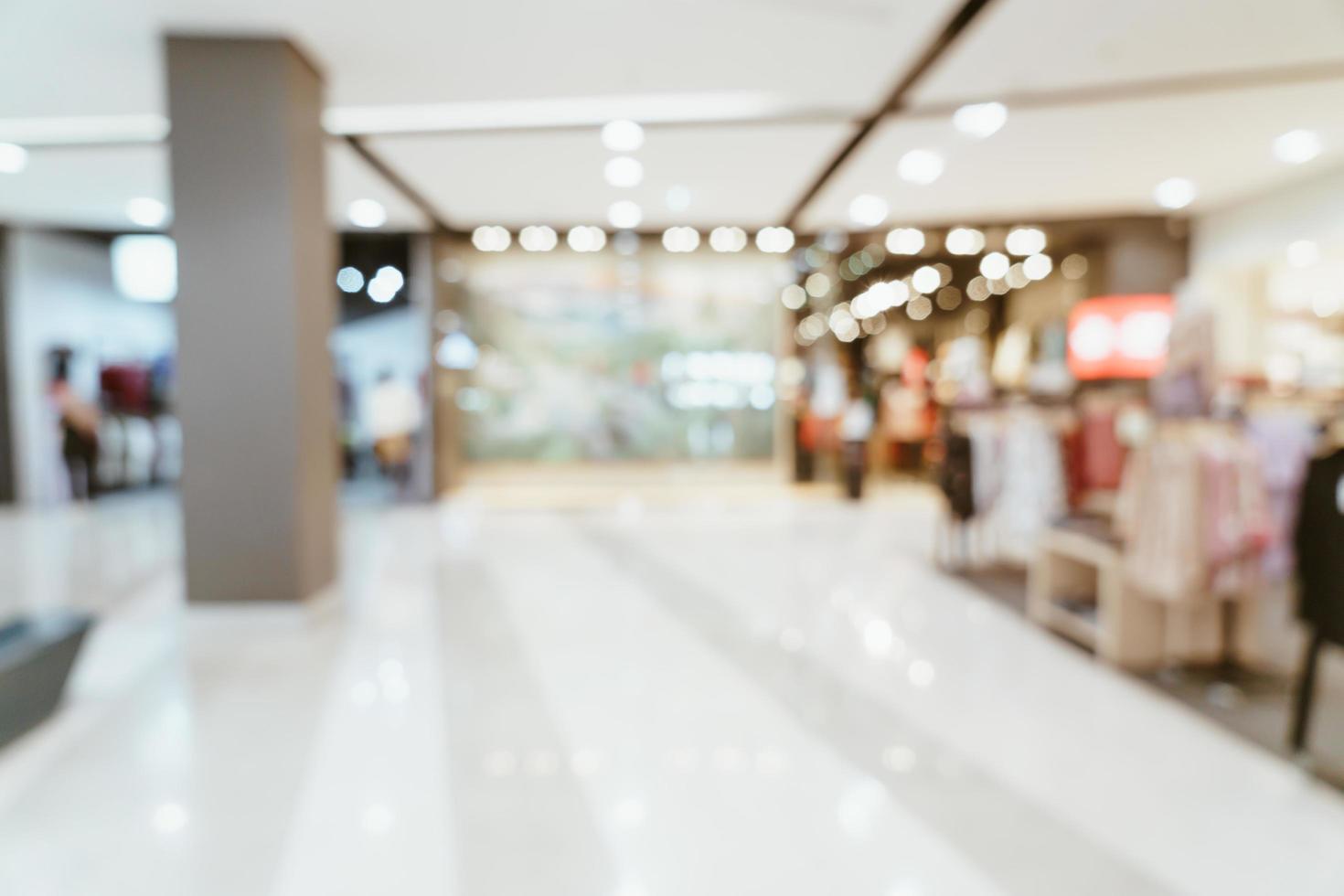centre commercial de luxe flou abstrait et magasin de détail pour le fond photo